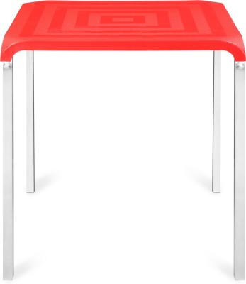 Nilkamal Novella Plastic 4 Seater Dining Table(Finish Color - Red)  available at flipkart for Rs.3086