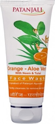 Patanjali Orange-Aloe Vera  Face Wash(60 g)