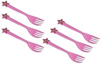 Funcart Barbie Fork ( 6 pcs/pack) Disposable Plastic Table Fork, Baby Fork, Salad Fork, Fruit Fork Set(Pack of 6)  available at flipkart for Rs.175
