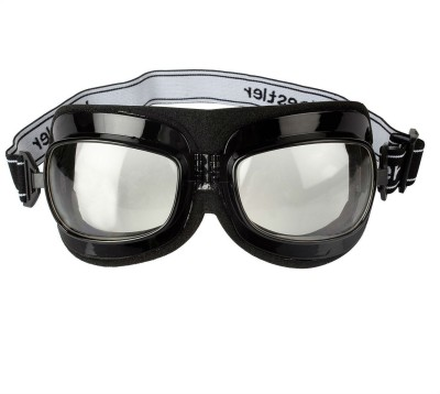 2671cca82b3 Shrih Adjustable Band Clear Glass Riding Motorcycle Goggles ( Multicolor )