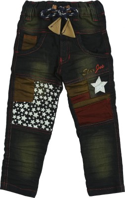 Punkster Regular Boys Green Jeans