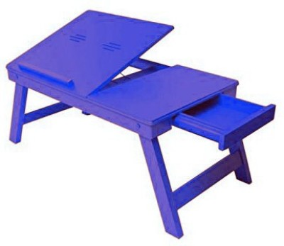 Onlineshoppee Engineered Wood Portable Laptop Table(Finish Color - Blue)