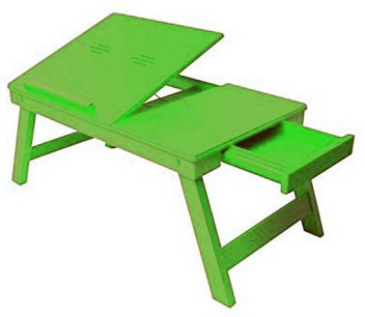 Onlineshoppee Engineered Wood Portable Laptop Table(Finish Color - Green)