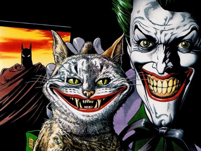 comics Batman Joker Cat Fine Art Paper Print Poster Photographic Paper(12 inch X 18 inch, Rolled)  available at flipkart for Rs.119
