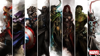 comics Avengers The Avengers Iron Man Captain America Nick Fury Loki Black Widow Hulk Thor Hawkeye HD Wallpaper Background Photographic Paper(12 inch X 18 inch, Rolled)  available at flipkart for Rs.119