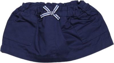 United Colors of Benetton Solid Girls A-line Dark Blue Skirt at flipkart