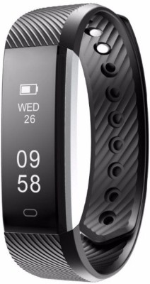 RCE ID115 Bluetooth Heart Rate Smart fitness Band Tracker Smartwatch with Pedometer uses application Veryfit For IOS and Android Phone(Black) at flipkart