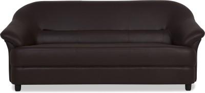 Urban Living Jennifer Leatherette 3 Seater  Sofa(Finish Color - Brown)