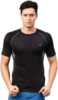 HRX by Hrithik Roshan Solid Men Round Neck Black T-Shirt at flipkart