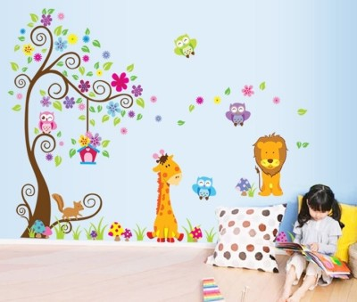 Oren Empower Extra Large Self Adhesive Wall Stickers Sticker(Pack of 2)