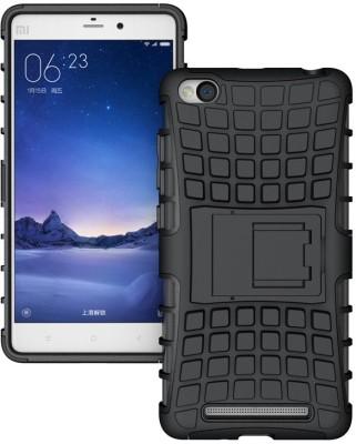 Mobicrafft Back Cover for Mi Redmi 3S, Mi Redmi 3S Prime(Black, Rubber, Plastic)