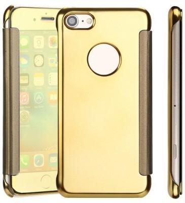 TGK Flip Cover for Apple iPhone 7(Gold, Shock Proof)