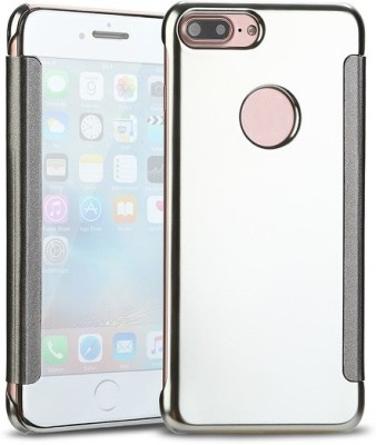TGK Flip Cover for Apple iPhone 7 Plus(Silver, Shock Proof)