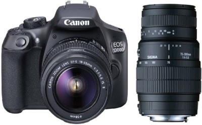Canon 1300D DSLR Camera With Sigma 70 – 300 mm F4-5.6 DG Macro for Canon Digital SLR Lens(Black)