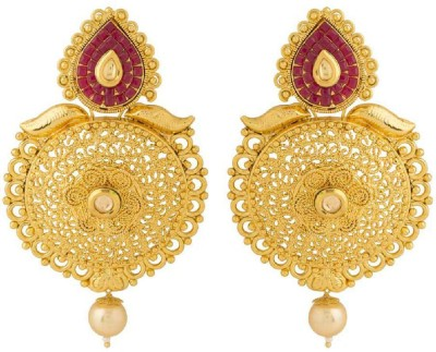 Voylla Artificial Classic Textured Copper Dangle Earring at flipkart