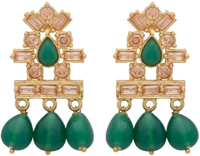 Voylla Artificial Classic Embellished Cubic Zirconia Alloy Dangle Earring at flipkart