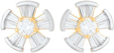 Voylla Artificial Classic Embellished Cubic Zirconia Brass Stud Earring at flipkart