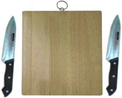 Xudo vegetable cuting board Vegetable chopping board with Two knife Beige Kitchen Tool Set(Beige) at flipkart