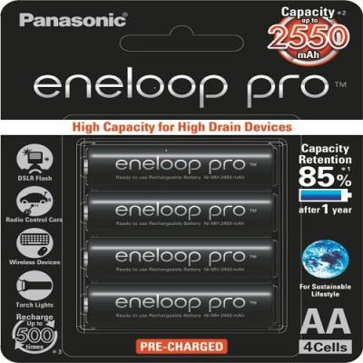 Panasonic Eneloop Pro  Battery(Pack of 4)
