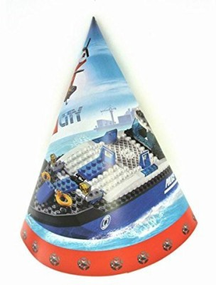 Funcart Funcart lego city hat size:20cm(pack of 8pcs)  available at flipkart for Rs.240
