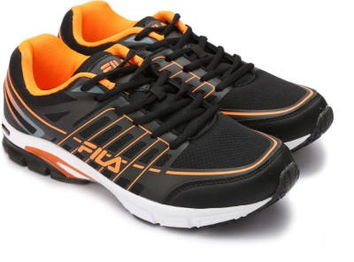 f683a945aa4e 34% OFF on Fila Running Shoes For Men(Black
