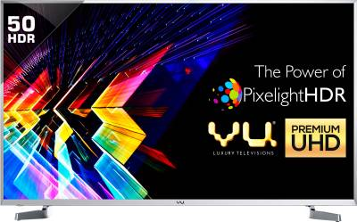 Vu 127cm (50 inch) Ultra HD (4K) LED Smart TV - A+ Grade Panel ₹47,999₹57,000