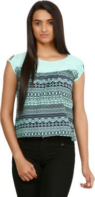 MAYRA Casual Short Sleeve Printed Women Multicolor Top MAYRA Women's Tops