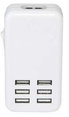 Shrih SH 03991 6 Port USB Multiport Mobile Charger with Detachable Cable White