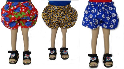 BG Short For Girls Casual Floral Print Cotton Blend(Multicolor, Pack of 3) at flipkart