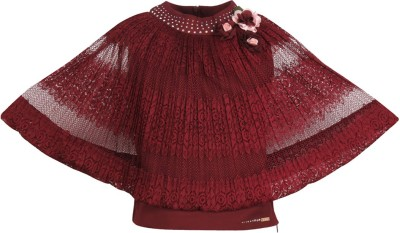 Cutecumber Baby Girls Party Lace Top(Maroon, Pack of 1) at flipkart