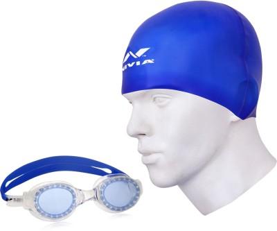 Nivia Goggle & Cap Swimming Kit  available at flipkart for Rs.525