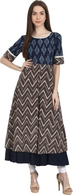 Nayo Women Printed Frontslit Kurta(Multicolor) at flipkart