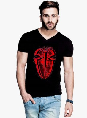 Trendmakerz Graphic Print Men V-neck Multicolor T-Shirt at flipkart