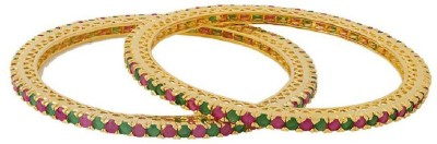 Voylla Brass Crystal Gold-plated Bangle Set(Pack of 2) at flipkart