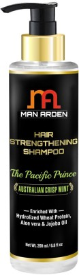 Man Arden Hair Strengthening Shampoo - The Pacific Prince - With Hydrolized Wheat Protein, Aloe vera & Jojoba Oil(200 ml)