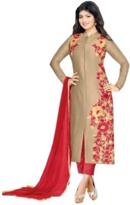 Vaidehi Fashion Cotton Embroidered Salwar Suit Material, Dress/Top Material, Salwar Suit Dupatta Material, Semi-stitched Salwar Suit Dupatta Material, Semi-stitched Salwar Suit Material