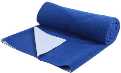 0-Degree Cotton, Polyester, Rubber Baby Sleeping Mat(Navy Blue, Small)