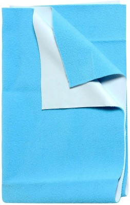 0-Degree Cotton, Polyester, Rubber Baby Dry Mat Mat Quick Drying Mattress Protection Waterproof Mat Dry Sheet with one side rubber layer for Baby Bed(Light Blue, Medium) at flipkart