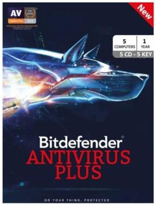 Bitdefender Antivirus Plus 2017 5 PC 1 Year Antivirus