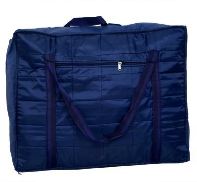 KUBER INDUSTRIES Jumbo Attachi Bag, Blanket Cum Suitcase Bag, Storage Bag Small Travel Bag Blue KUBER INDUSTRIES Small Travel Bags