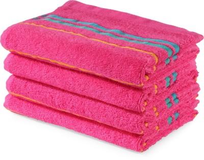 Trident Cotton 440 GSM Hand Towel(Pink) at flipkart