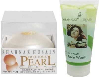 Shahnaz Husain Pearl Cream and Tulsi-Neem Face Wash Combo Combo Set(Set of 2)
