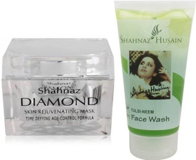 Shahnaz Husain Diamond Mask and Tulsi-Neem Face Wash Combo Combo Set(Set of 2)