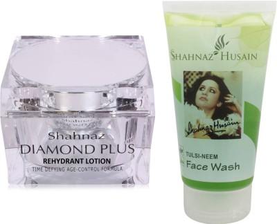 Shahnaz Husain Diamond Lotion and Tulsi-Neem Face Wash Combo Combo Set(Set of 2)