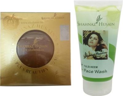 Shahnaz Husain Gold Beautifying Mask and Tulsi-Neem Face Wash Combo Combo Set(Set of 2) Flipkart