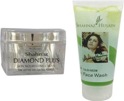 Shahnaz Husain Diamond Cream and Tulsi-Neem Face Wash Combo Combo Set(Set of 2) Flipkart