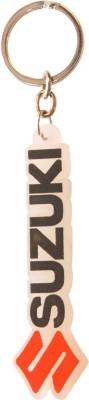 CRAFTKART CFK173 Suzuki Black Soft Rubber Keychain(Red, White) Carabiner(Multicolor)
