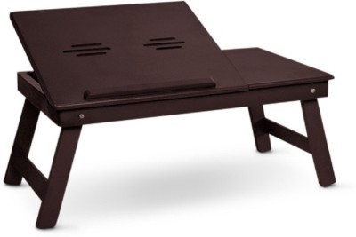 Colorwood Solid Wood Portable Laptop Table(Finish Color - Wenge)