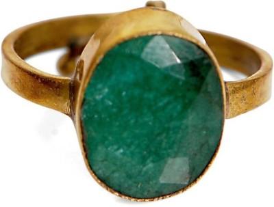Manorama 6.25 Panana Rashi Ratan With Lab Test Stone Emerald Platinum Plated Ring at flipkart