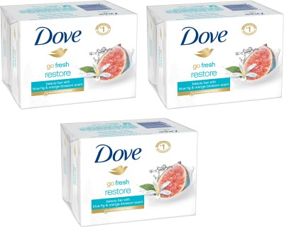 Dove Blue Fig and Orange Blossom Scent (Pack of 3)(135 g, Pack of 3)